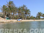 The beach of Agia Irini